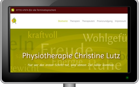 Website: Physiotherapie Christine Lutz